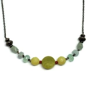Jade Chalcedony Sterling Silver Necklace